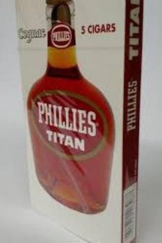 Cigarros en cajas x 5 Phillies Titan Cognac