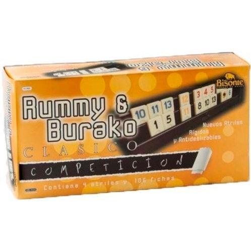 Rummy Burako Competición Clásico Bisonte 9681 Juego Mesa