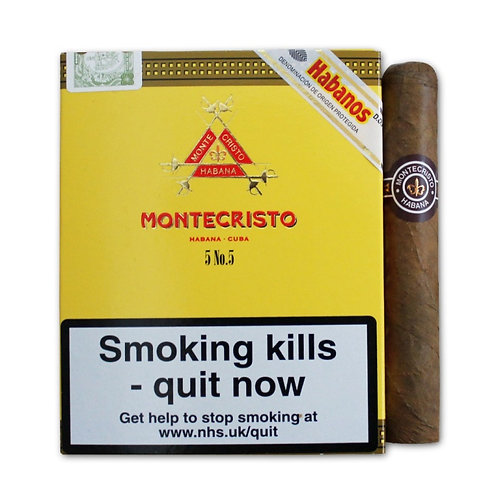 Montecristo N 5 X 5 Cigarros  c/u