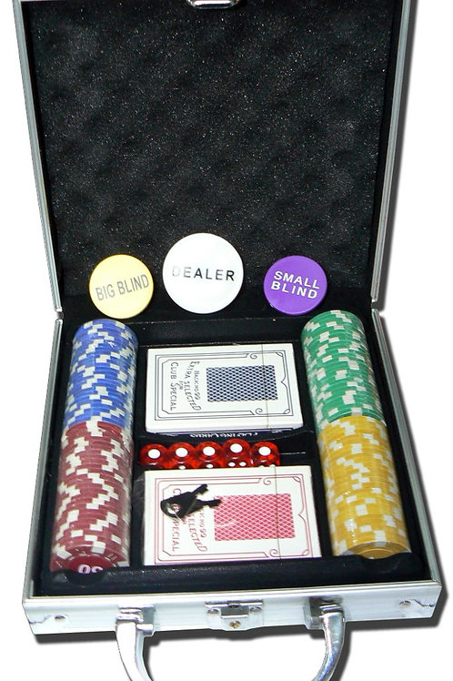 Valija Metalica De Poker X 100 Fichas marcadas y Naipes