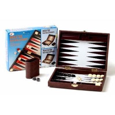 Backgammon deluxe, TFB-SBK1-M Maletin chico de cuero ecológico