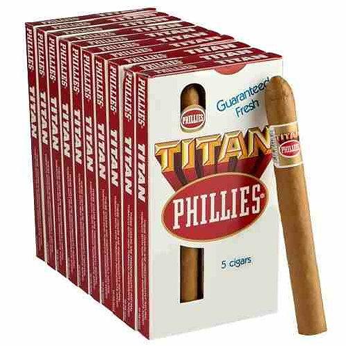 Cigarros en cajas x 5 Phillies Titan Natural