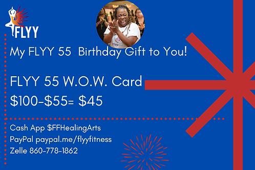 FLYY 55 W.O.W Card