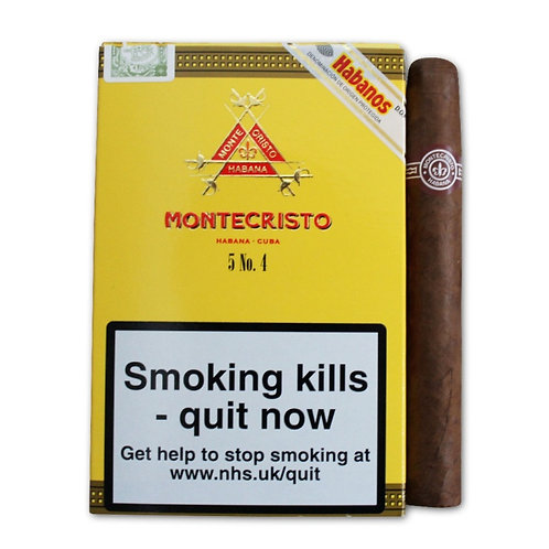 Montecristo N 4 X 5 Cigarros  c/u