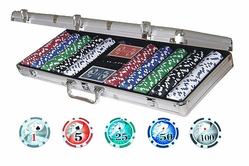 Fichero De Poker 500 Fichas Numeradas En Maletin Profesional