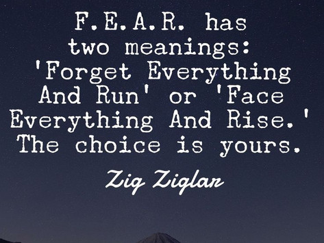 What do you FEAR that's holding you back?
