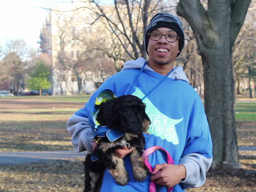 Young Adults with Autism at Urban Autism Solutions Continue Dog Walking Services During the Winter