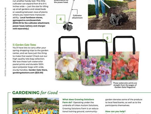 UAS Featured in Garden Gate Magazine