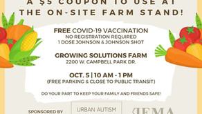 Free Covid-19 vaccination at the Farm Oct. 5