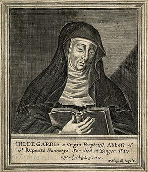 Hildegard_von_Bingen._Line_engraving_by_