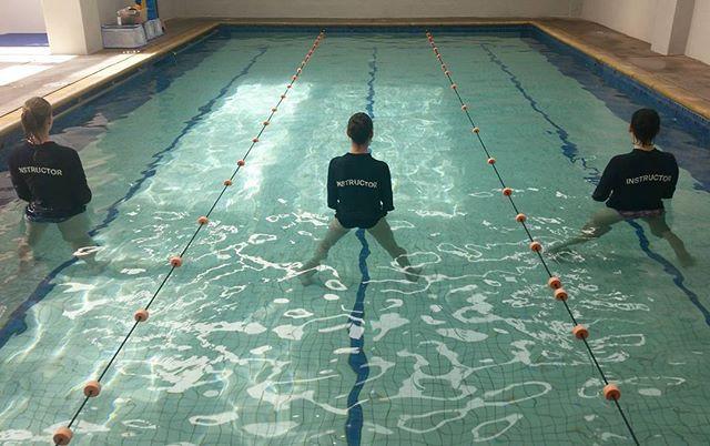 Crystal clear learn to swim pool