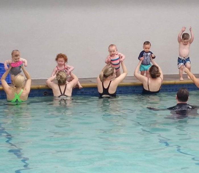 Our little swimmers definitely enjoy the Crocodile song!_#learntoswim #watersafety #iswimatmarystree