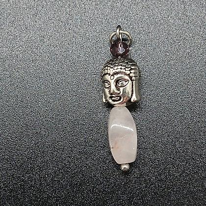 Rozenkwarts boeddha hoofd