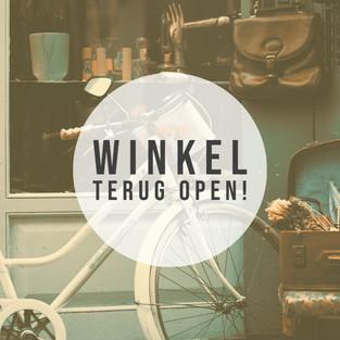 De winkel mag terug open!