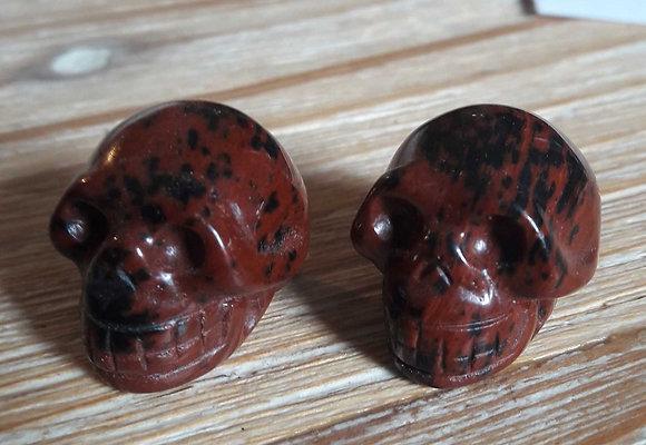Obsidiaan mahonie skull