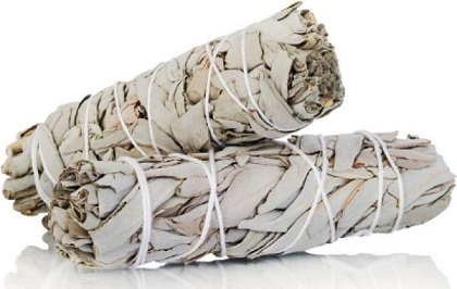 witte salie- white sage smudge stick small