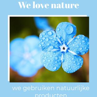 We houden van de natuur