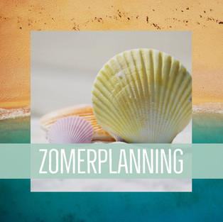 zomerplanning