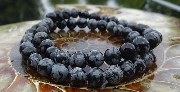 Obsidiaan, sneeuwvlok - Edelstenen, een persoonlijk geschenk