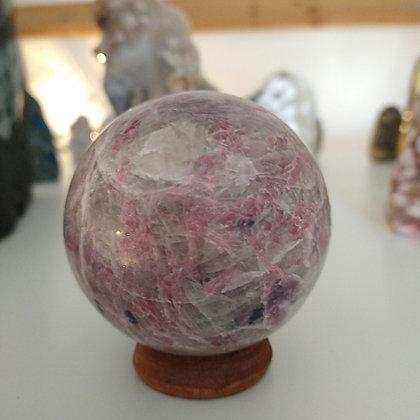 Roze Toermalijn met lepidoliet
