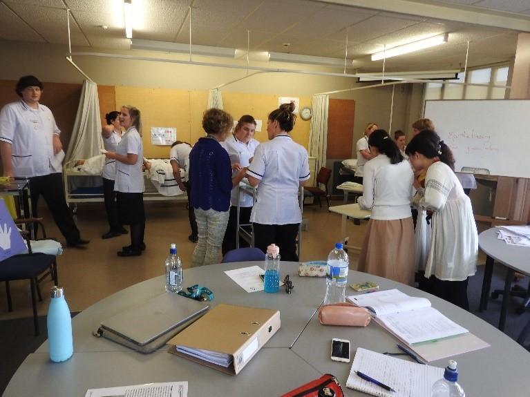 Meeting local nursing student