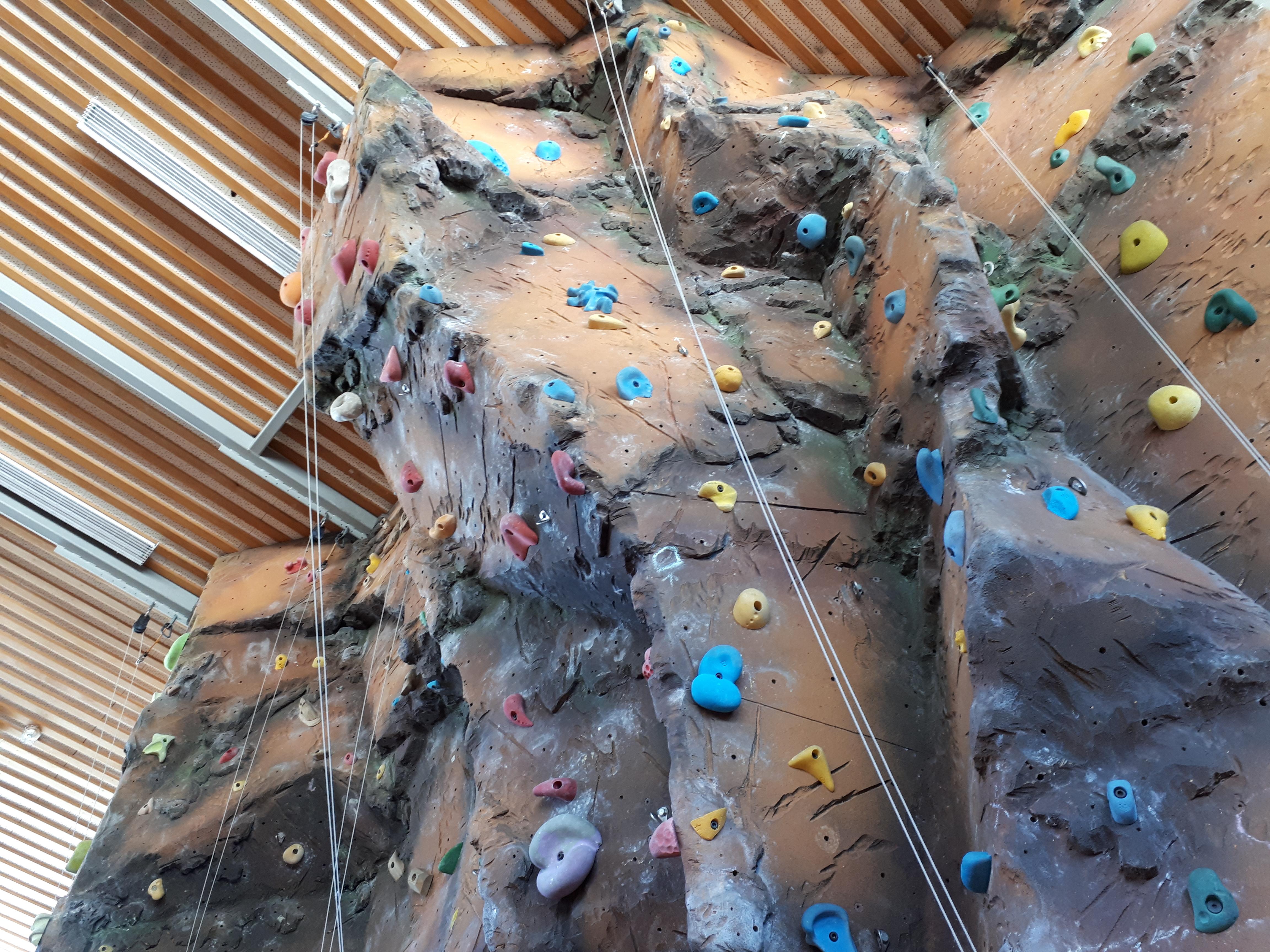 Rock climbing wall (