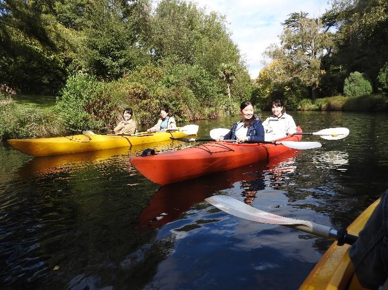 Kayaking on Avon river