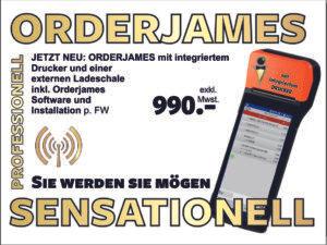 ORDERJAMES KOMPLETTPAKET II – die mobile Kasse für Ihren Betrieb