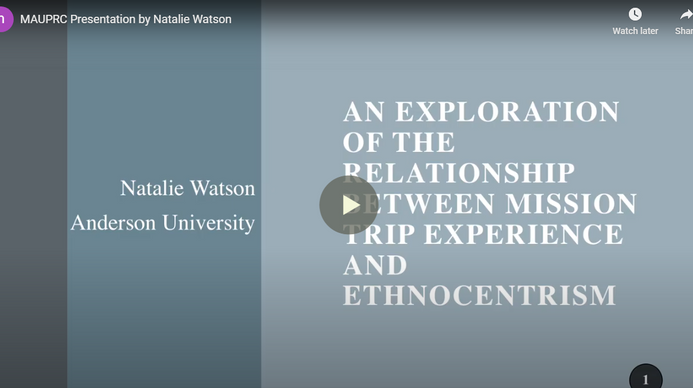An Exploration of the Relationship between Mission Trip Experience and Ethnocentrism