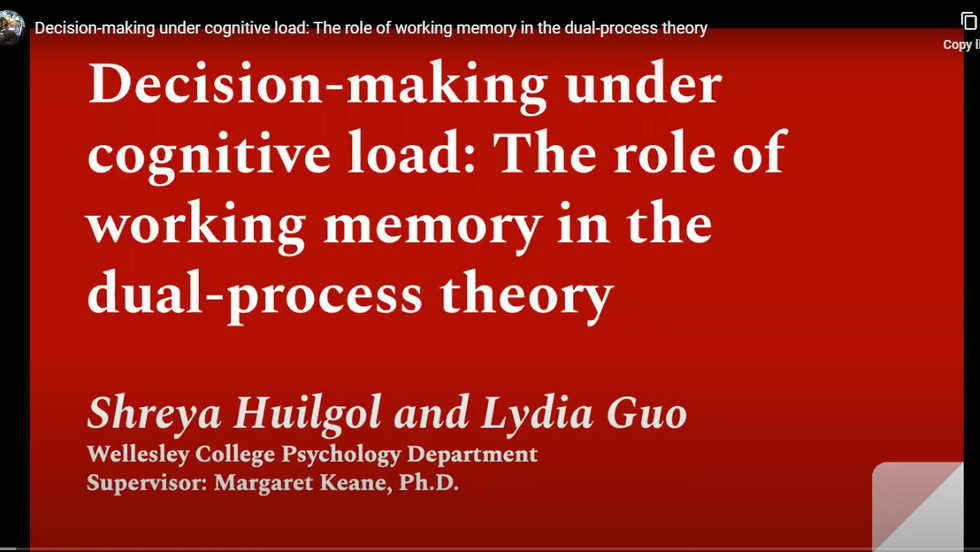 Decision-Making Under Cognitive Load: The Role of Working Memory in Dual-Process Theory