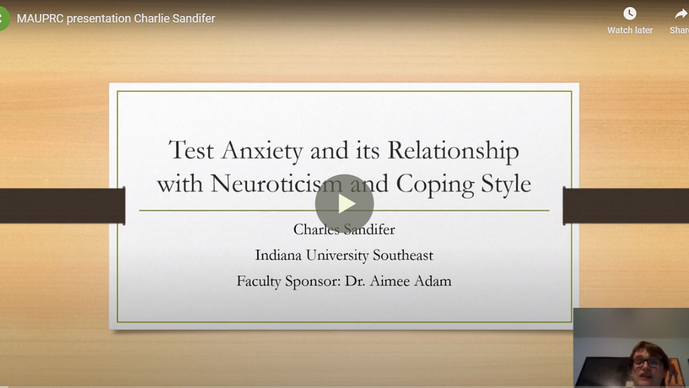 Test Anxiety and its Relationship with Neuroticism and Coping Style