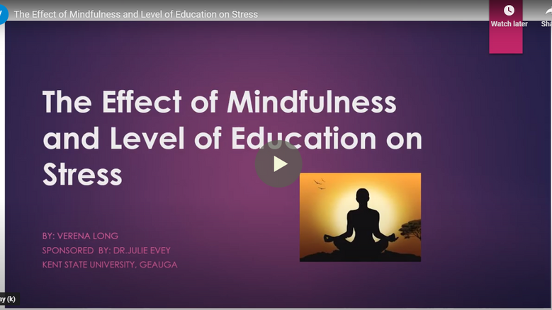 The Effect of Mindfulness and Level of Education on Stress