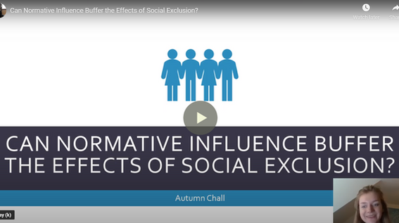 Can Normative Influence Buffer the Effects of Social Exclusion?