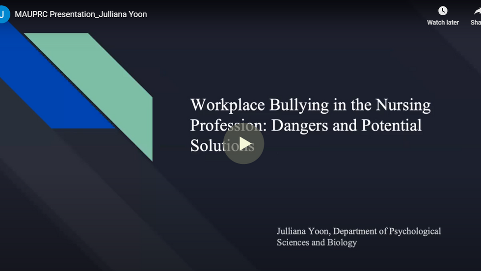 Workplace Bullying in the Nursing profession: Dangers and Potential Solutions