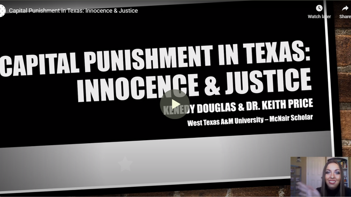 Capital Punishment in Texas: Innocence and Justice