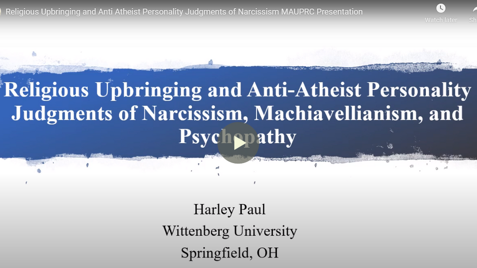 Religious Upbringing and Anti-Atheist Personality Judgments of Narcissism, Machiavellianism, and Psychopathy