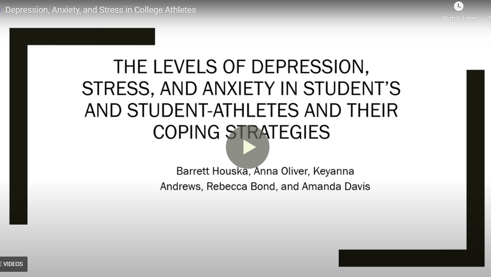 Levels of Depression in College Students and Student-Athletes and their Coping Mechanisms