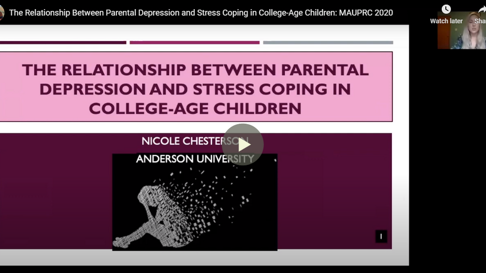 The Relationship Between Parental Depression and Stress Coping in College-Age Children