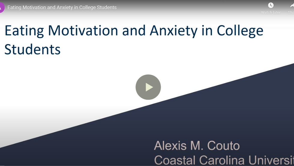 Motivation for Eating and Anxiety in College Students