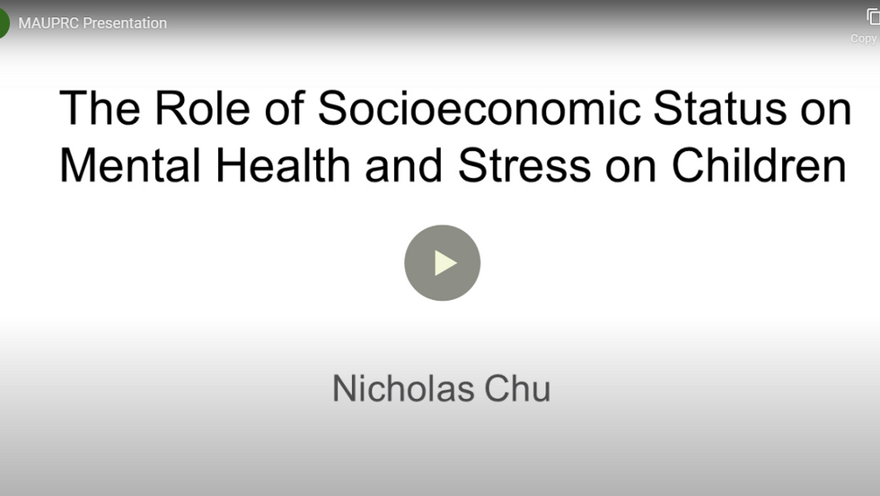 The Role of Socioeconomic Status on Mental Health and Stress on Children