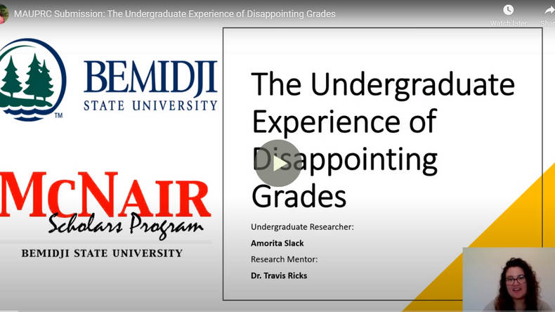 The Undergraduate Experience of Disappointing Grades