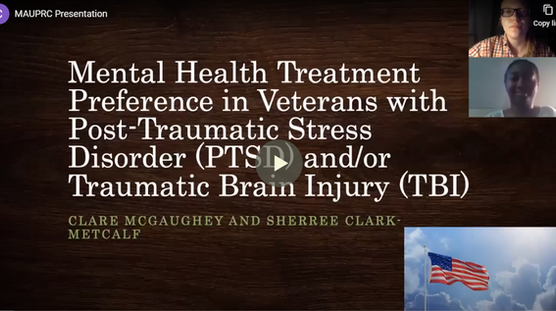 Mental Health Treatment Preference in Veterans with Post-Traumatic Stress Disorder (PTSD) and/or Traumatic Brain Injury (TBI)
