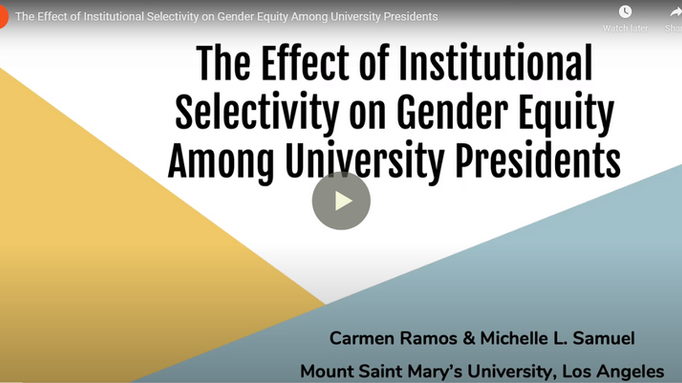 The Effect of Institutional Selectivity on Gender Equity Among University Presidents