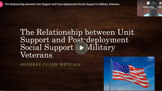 The Relationship between Unit Support and Post-deployment Social Support in Military Veterans
