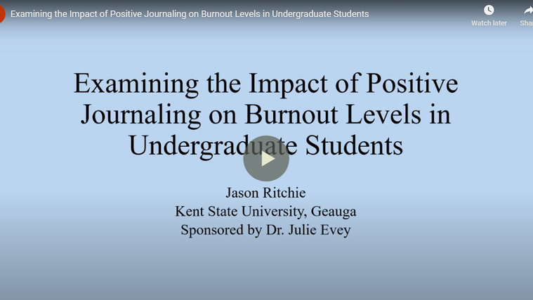Examining the Impact of Positive Journaling on Burnout Levels in Undergraduate Students