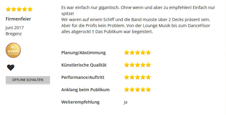 Firmenfeier Bregenz