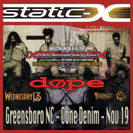 Static X - November 19th