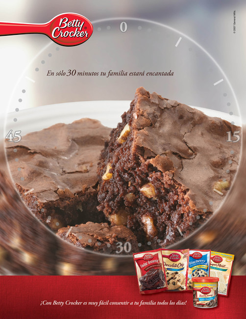 Betty Crocker Brownies Print Ad