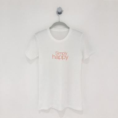 """Simply Happy"" T-Shirt"""