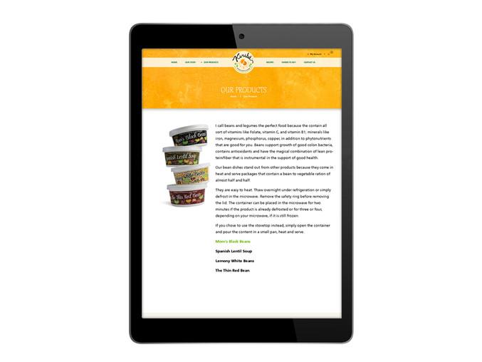 Kiribá Website - Products Page